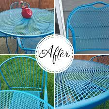 refinish wrought patio furniture so much make