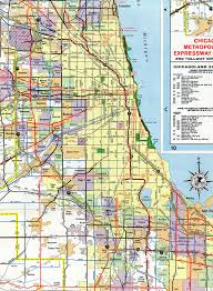 Chicago Area Zip Code Map by Interstate Guide Interstate 94