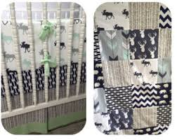 baby blanket with name woodland crib bedding jersey knit or