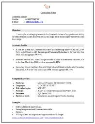 curriculum vitae sles for freshers pdf to word best 25 resume format for freshers ideas on pinterest resume
