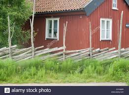 traditional red falun swedish house summer home houses summerhouse