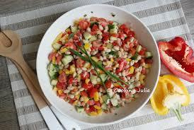 comment cuisiner des haricots blancs cooking salade de haricots blancs aux crudités