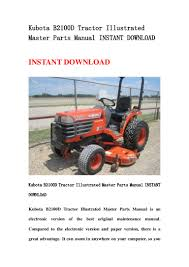 kubota b2100 d tractor illustrated master parts manual instant downlo u2026