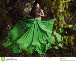 Beautiful Fairies by Beautiful Nymph In Fairy Forest Royalty Free Stock Image Image