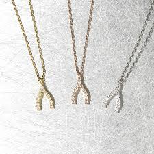 tiny necklace images Very tiny swarovski wishbone charm necklace sterling silver jpg