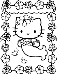 adorable kitty coloring pages kids cartoon coloring pages
