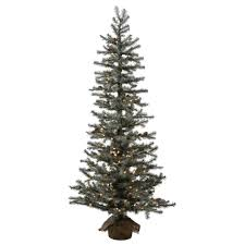 decoration ideas frosted artificial tree with green pine