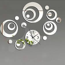 diy decorative modern mirror wall clock sticker acrylic room