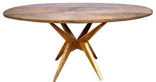 mid century oval dining table oval walnut dining table dining room ideas