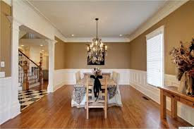 Wainscoting In Dining Room Traditional Dining Room With Wainscoting U0026 Crown Molding In