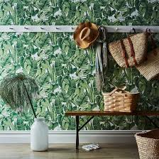 self adhesive wallpaper tropical jungle by food52 dwell