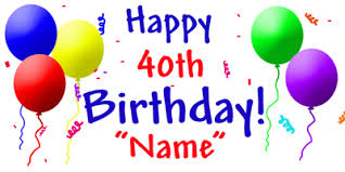 birthday card happy 40th birthday greetings cards great gift