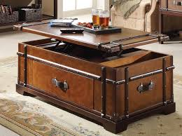 rustic trunk coffee table bed and shower unique elegance