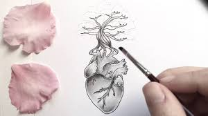 anatomical heart dotwork time lapse drawing youtube