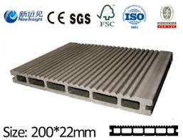 china pe wpc waterproof decking wpc flooring with ce sgs iso fsc