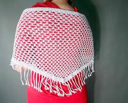 wedding shawl with fringes crochet shawl silver scarf silver