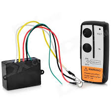 electric winch wireless remote control system black free