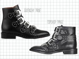 motorcycle boots buckle real vs steal givenchy vs topshop dress with yas