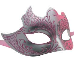 pink masquerade masks silver and pink masquerade mask with glitter