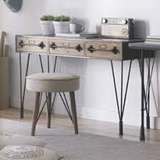 console bureau design console bureau industriel bois et métal
