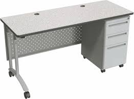 Adjustable Height Desks by Standing Office Desk Perforated Modesty Panel