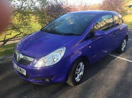 vauxhall purple 2010 vauxhall corsa energy 1 2 3dr only 28k mileage in
