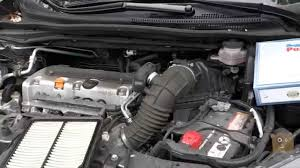 how to change honda cr v crv car engine air filter youtube