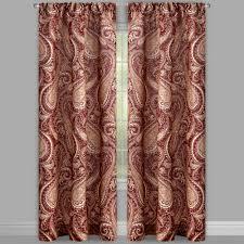 tirana wine paisley rod pocket window curtains set of 2
