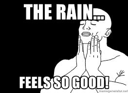 So Good Meme - the rain feels so good feels good meme generator