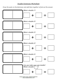 doubles to 10 worksheets ks1 primary teacher toolbox