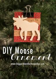 diy moose ornament moose ornament and scrapbook paper