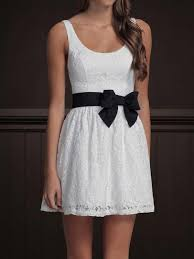 bow belt white fit flare white skater dress floral print black bow belt ebay