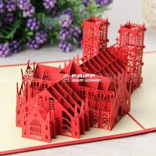 3d paper cards three dimensional church business friendship