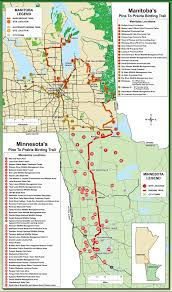 Prairies In World Map by Manitoba Pine To Prairie International Birding Trail Watchable