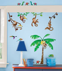 children s wall clocks monkey monkey kids wall clock becky lolo monkey business wall stickers