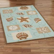 area rugs fabulous coastal area rugs cora blue coral hooked