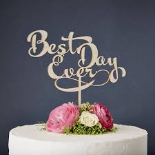 best cake toppers calligraphy best day wooden wedding cake topper by