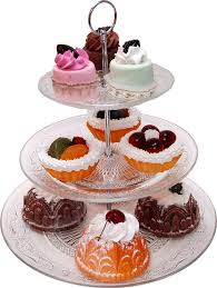3 tier stand large glass 3 tier stand with dessert 11 decorcentral