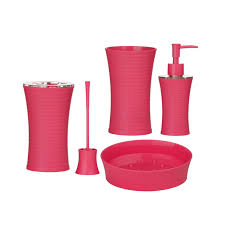 creative pink bathroom sets pink and black bathroom accessories
