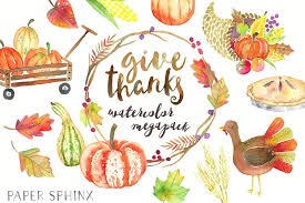 thanksgiving watercolor graphic pack illustrations creative market