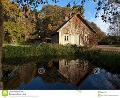 A Small House Countryside House By A Small Lake Royalty Free Stock Photos
