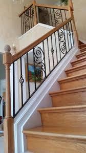 hand made handmade wrought iron stair railing by juno ironcraft