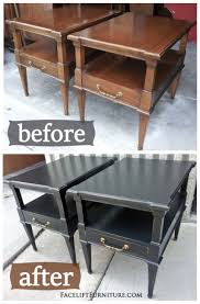 distressed black end table distressed black matching end tables before after facelift