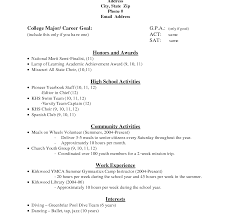 college application resume templates 2 high school resume template for collegecation exle students