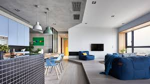 colorful modern apartment for a family with small children