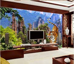 online get cheap photo wall mural aliexpress com alibaba group 3d wall murals home decoration tiger beautiful mountain tv background wall photo wall murals wallpaper