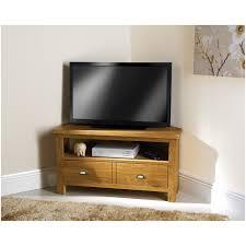 light wood corner tv stand linden corner tv unit in pale grey and light oak furniture123