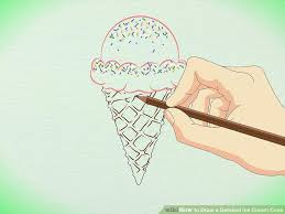 draw detailed ice cream cone pictures wikihow