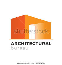 bureau concept architecture realty construction company logo design stock vector