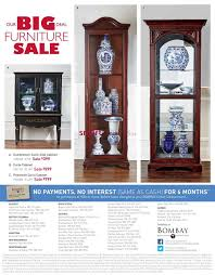 Curio Cabinet Bombay Company Bombay Furniture Sale Catalogue June 15 To July 20